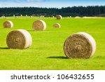 Round Bay Bale Rolls In A Gree...