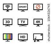modern tv icons set | Shutterstock .eps vector #1064326745