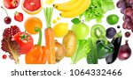 background of fruits and... | Shutterstock . vector #1064332466