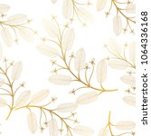 seamless pattern with leaves.... | Shutterstock .eps vector #1064336168