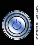 abstract power button on black | Shutterstock . vector #10643398