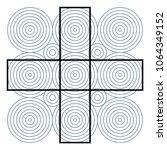optical illusion effect  op art ... | Shutterstock .eps vector #1064349152