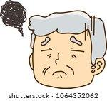 grandpa facial expressions... | Shutterstock .eps vector #1064352062