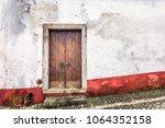 Colorful Wooden Door In The...