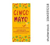 cinco de mayo flyer template... | Shutterstock .eps vector #1064355218