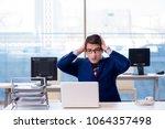 young handsome businessman... | Shutterstock . vector #1064357498