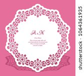 round lace doily  cutout paper... | Shutterstock .eps vector #1064361935