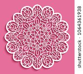 round lace doily  cutout paper... | Shutterstock .eps vector #1064361938