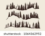 vintage engraving forest.... | Shutterstock .eps vector #1064362952