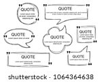 vector collection of scribbled... | Shutterstock .eps vector #1064364638