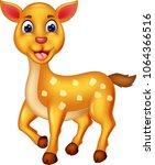 funny mouse deer cartoon posing ...   Shutterstock .eps vector #1064366516