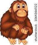 cute gorilla cartoon sitting...   Shutterstock .eps vector #1064366522