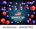 memorial day in usa background... | Shutterstock .eps vector #1064367902