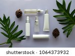 cosmetic packaging set on... | Shutterstock . vector #1064373932