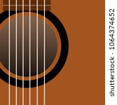 a fragment of brown acoustic... | Shutterstock .eps vector #1064374652