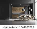 Modern Kitchen Interior With...