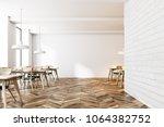 Modern White Brick Cafe...