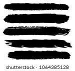 collection of hand drawn black... | Shutterstock .eps vector #1064385128