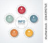 vector infographic template for ... | Shutterstock .eps vector #1064390765