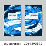 set of vector business card... | Shutterstock .eps vector #1064390972