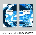 set of vector business card... | Shutterstock .eps vector #1064390975