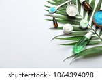 flat lay composition with... | Shutterstock . vector #1064394098