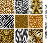 animal skin seamless pattern set | Shutterstock .eps vector #106439765
