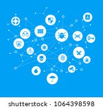 concept of network security  ... | Shutterstock .eps vector #1064398598