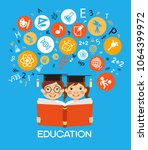 child education.children learn... | Shutterstock .eps vector #1064399972