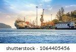 port blair harbor andaman with... | Shutterstock . vector #1064405456