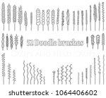 set of doodle brushes in the...   Shutterstock .eps vector #1064406602