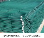 pvc coated curvy welded fence...   Shutterstock . vector #1064408558