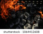 close up view inside the bbq... | Shutterstock . vector #1064412608