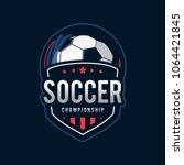 2018 soccer tournament logo icon | Shutterstock .eps vector #1064421845
