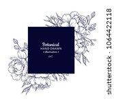 vintage flower vector square...   Shutterstock .eps vector #1064422118