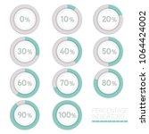 round progress bar circle... | Shutterstock .eps vector #1064424002