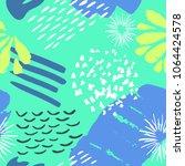 color ink brushes grunge... | Shutterstock .eps vector #1064424578