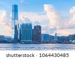modern cityscape with... | Shutterstock . vector #1064430485