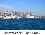 boat on bosphorus  marmara sea... | Shutterstock . vector #106443062