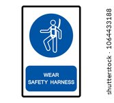 wear safety harness symbol sign ... | Shutterstock .eps vector #1064433188