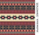 ethnic seamless pattern. tribal ... | Shutterstock .eps vector #1064437655