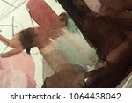 abstract watercolor painted... | Shutterstock . vector #1064438042