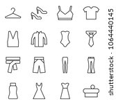 flat vector icon set   hanger... | Shutterstock .eps vector #1064440145