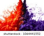 ink drop in water. abstract... | Shutterstock . vector #1064441552