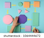 algorithm color paper model ... | Shutterstock . vector #1064444672