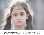 portrait of a little girl 6... | Shutterstock . vector #1064445122