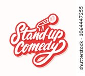 stand up comedy. vector... | Shutterstock .eps vector #1064447255