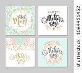 set of postcards for mother's... | Shutterstock .eps vector #1064451452