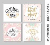 set of postcards for mother's... | Shutterstock .eps vector #1064451458