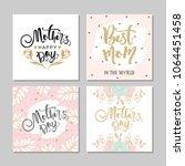 set of postcards for mother's... | Shutterstock .eps vector #1064451458
